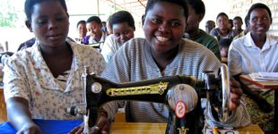 Young girl taking part in vocational training she finished a bas