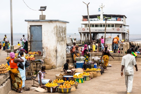 Vendors at Tagrin Ferry Terminal
