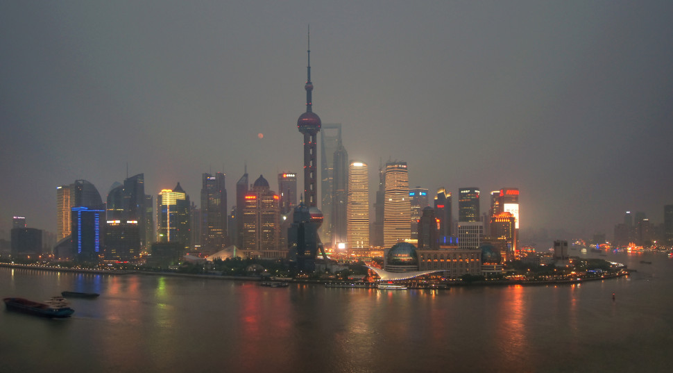 Hazy evening in Shanghai