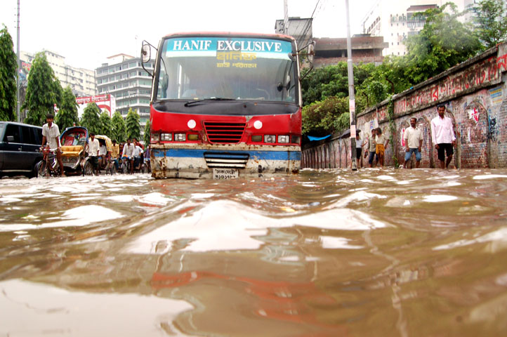 Flooded streets of Dhaka